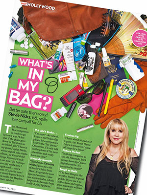 stevie nicks whats in my bag sm